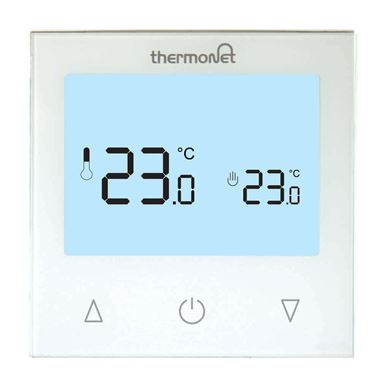 Thermosphere 9.2mG Glass Manual Thermostat - White Glass