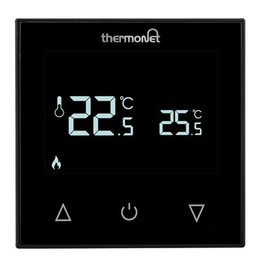 Thermosphere 9.2mG Glass Manual Thermostat - Black Glass