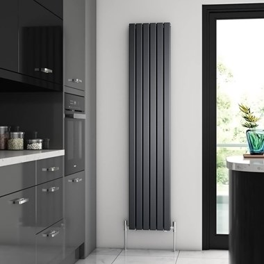 Brenton Flat Double Panel Vertical Radiator - 1800mm x 360mm